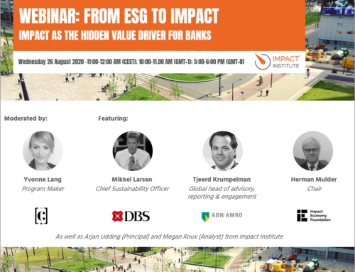 """Join our webinar """"From ESG to Impact: Impact as the hidden value driver for banks"""""""