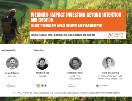 Join our webinar: Impact investing beyond intention and emotion