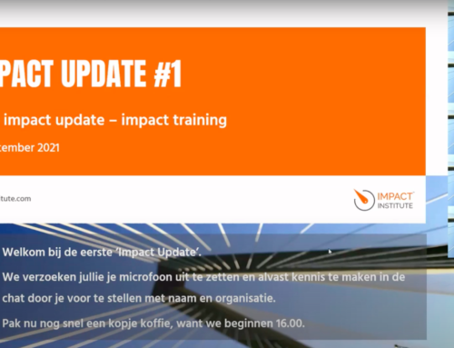 Watch here the Impact Update update on impact education for energy, water and infra organisations (Dutch)
